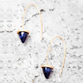 European blue and pink vintage woman earrings, simple fashion alloy earrings
