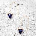 Europeu azul e rosa da mulher do vintage brincos, simples moda liga brincos