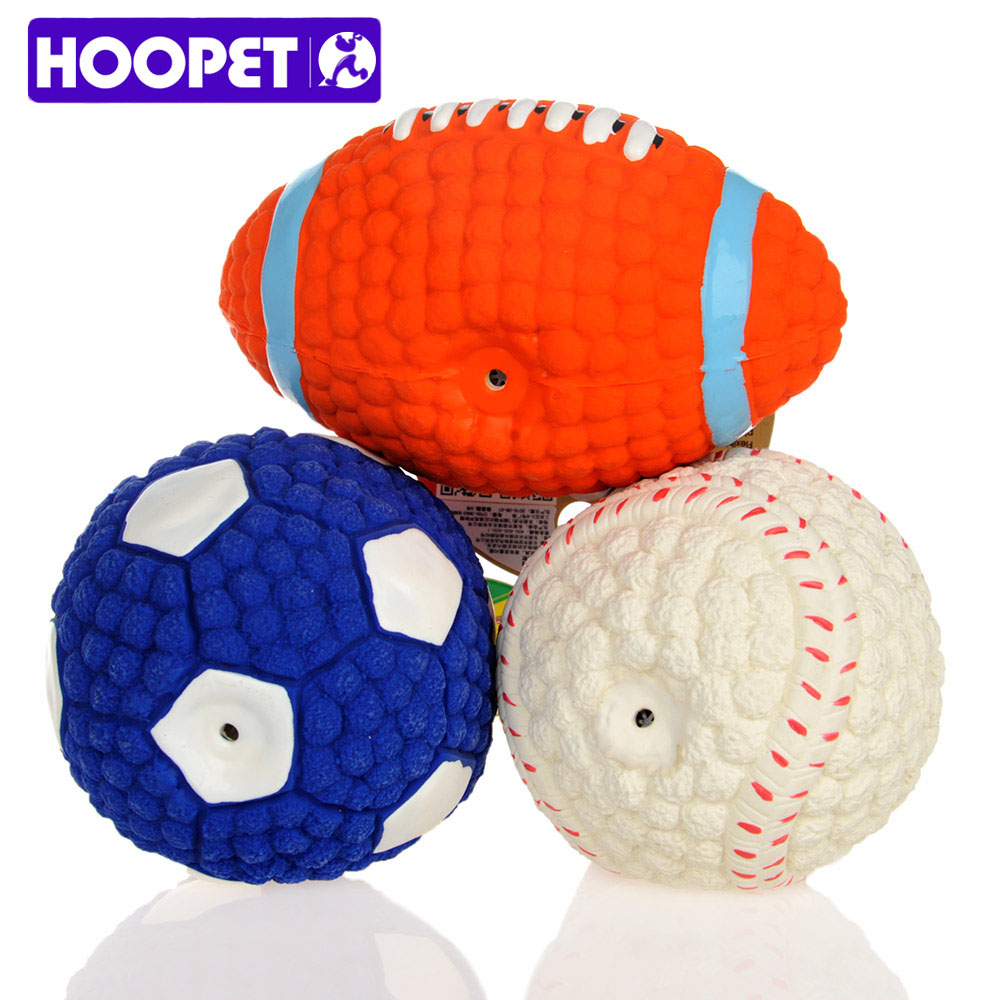 Dog Toys Balls : Hoopet pet dog toy environmental protection latex balls