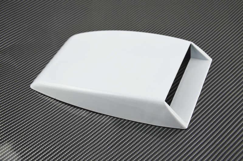 車のスタイリング黒/白/シルバーユニバーサル車の装飾エアフローインテークスクープターボボンネットベントカバーフード飾る