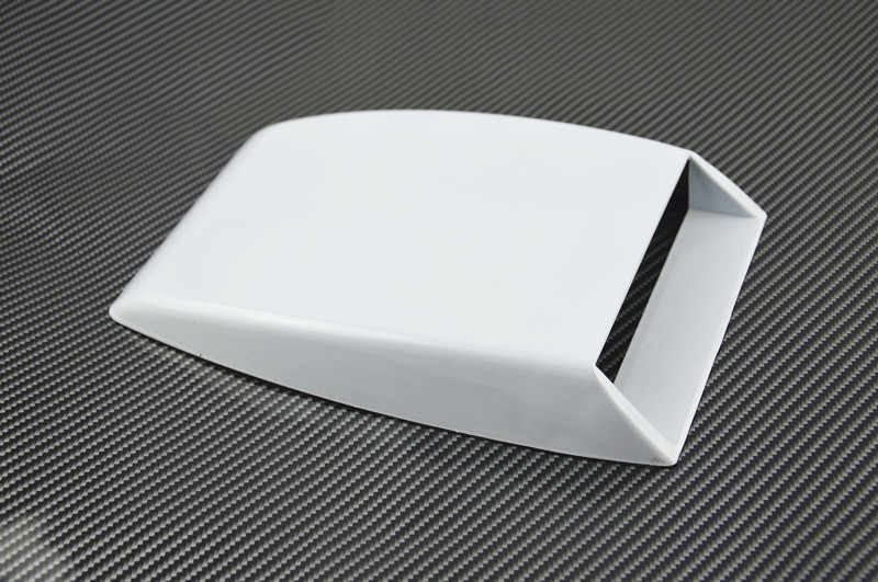 Auto styling zwart/wit/zilver Universele Auto decoratieve Air Flow Intake Scoop Turbo Bonnet Vent Cover hood versieren