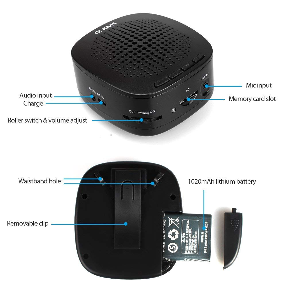 Image 3 - MAONO Voice Amplifier Mini Rechargeable PA system (1020mAh) with Wired Microphone for Teachers Presentations Coaches Tour GuidesPortable Speakers   -