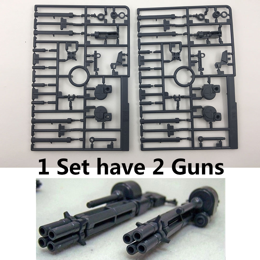 Two Guns/Set GG/TT BEAM GATLING GUNS For Bandai 1/100 MG RX-0 Unicorn Gundam Action Figures Model Guns Model Weapons Arm Set Toy