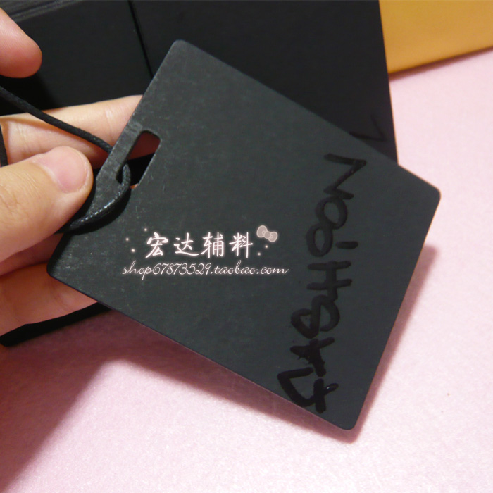 En el envío libre de la manera negro papel 1C UV impresión etiqueta  colgante joyería del sombrero de la ropa sin la secuencia 500 unids lote 61311a486d