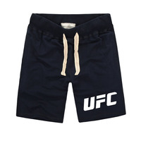 1 UFC MMA LIFE Fight Ultimate Fighting Championship Printed Shorts Men Fitness Clothing Pure Cotton Muay