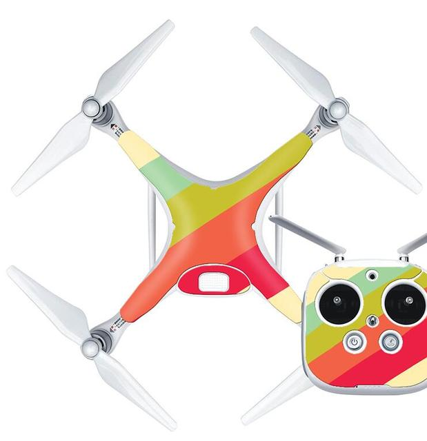 Skin Sticker So Many Style Colorful Stickers for DJI Phantom 4 and Cover Fuselage Remote Control for UAV Accessaries