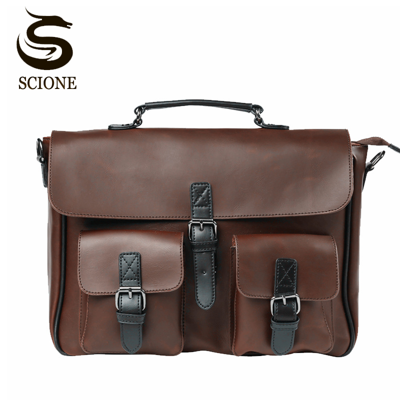 Business Men Bag Double Belt Brand OL Man Leather Briefcase Bag Lawyer Document Bag Male Messenger Totes maletines para hombresBusiness Men Bag Double Belt Brand OL Man Leather Briefcase Bag Lawyer Document Bag Male Messenger Totes maletines para hombres
