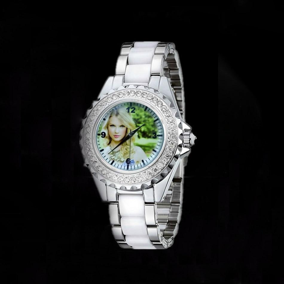 DIY watch custom made with photo Luxury Rhinestone Quartz Watches Picture Printed Diamond Imitation ceramic unique gift ceramic picture картина сувенир louis ratisbonne les etoiles