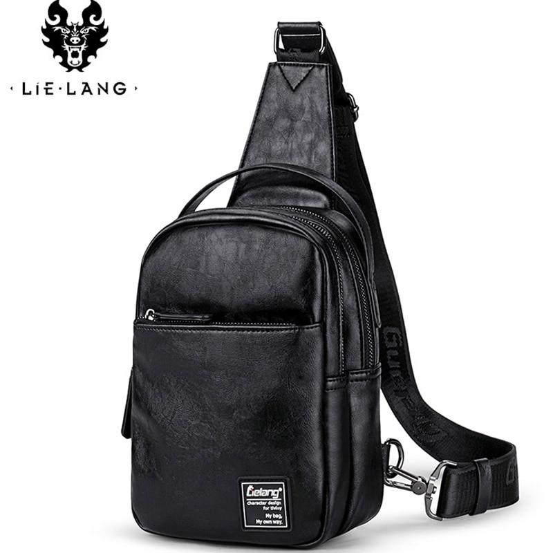 LIELANG Black Handbag Bag-Pack Messenger-Bags Work-Bag Crossbody Small Single-Shoulder