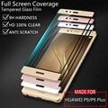 Huawei p9 plus pantalla completa cubierta colorful vidrio templado film protector de pantalla para huawei p9plus p9 oro blanco negro