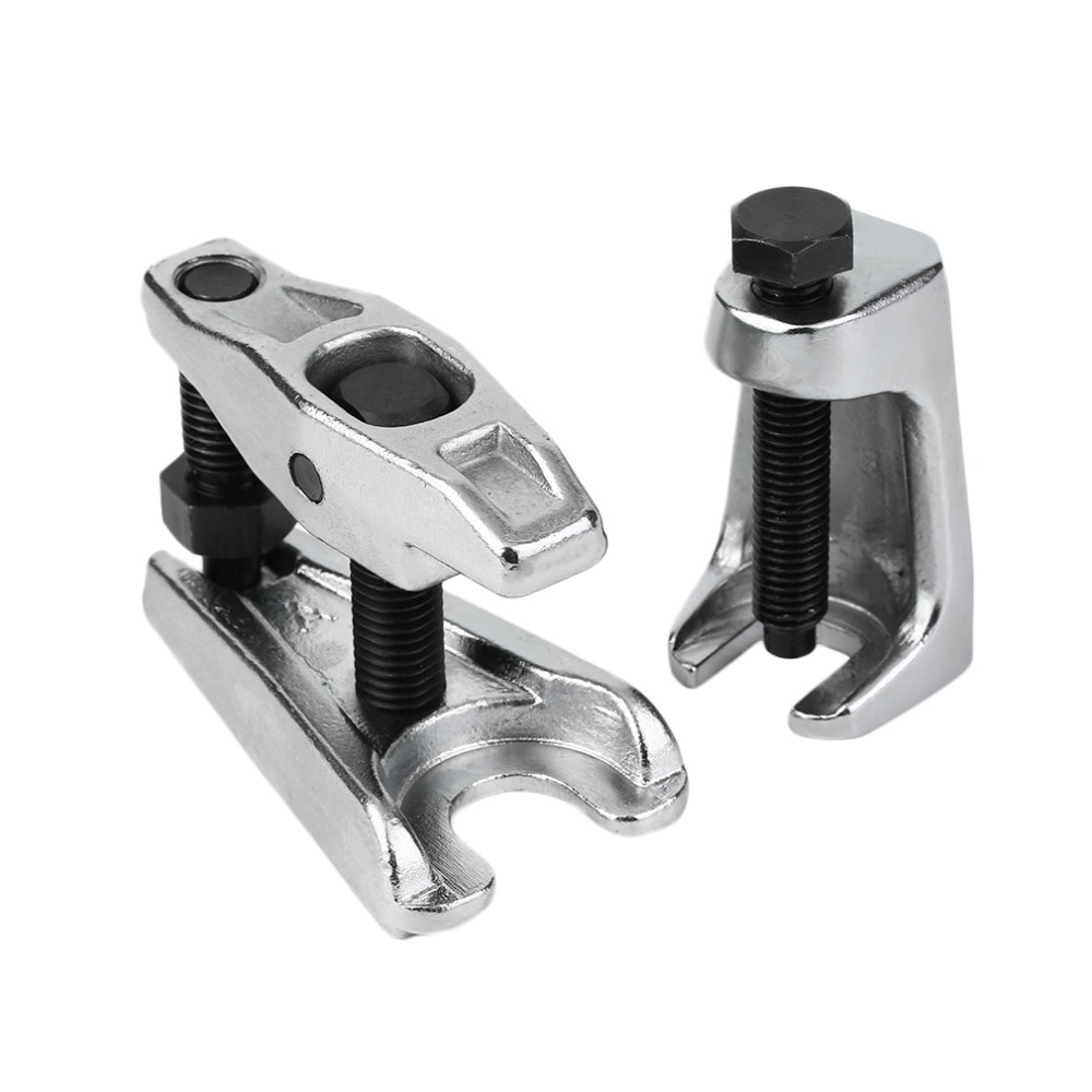 2Pcs/set Chrome-vanadium Steel Heat Treated Silver Vertical Ball Joint Puller Removal Seperator Auto Repair Tool Set Hand Tool