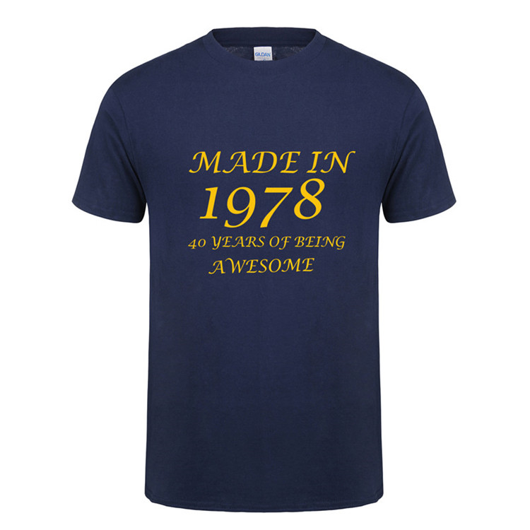 Funny Father Day Present Birthday Gift For Men Dad Daddy Husband Made In 1978 40 Years Of Being Awesome T Shirt Shirts From Mens