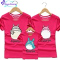 10 Colors Totoro Clothing For Mom And Daughter Cartoon Ropa Mama E Hija Short Sleeve 2017 Family Tshirt Cotton Matching Clothes