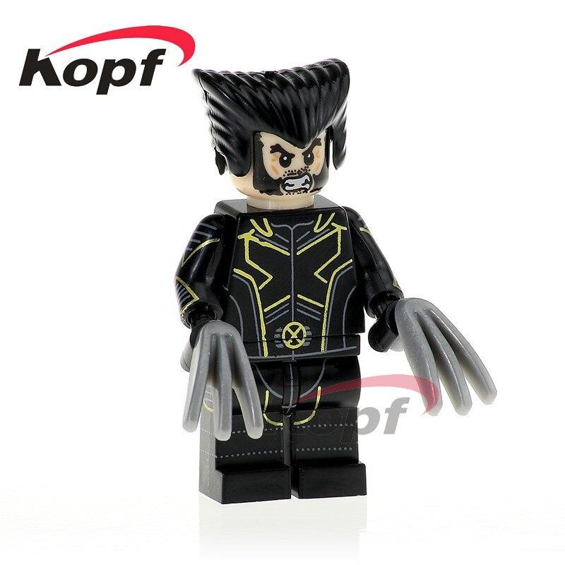 Single Sale Super Heroes Wolverine Guardian Joe Iron Man Reverse Flash Punisher Toys Bricks Building Blocks Children Gift PG337