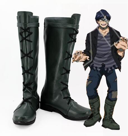 My Hero Academia Boku no Hero Academia Iida Tenya Cosplay Boots Shoes Costume Accessories Halloween Party Boots for Men Shoes