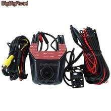 BigBigRoad For Hyundai Tucson santa fe Sonata 9 i30 veloster ix25 Car Wifi DVR Dual Cameras Car Black Box Video Recorder Dashcam