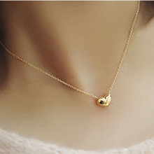 2016 small accessories heart necklace short design chain gold necklaces & pendants gold heart collar for women Jewelry