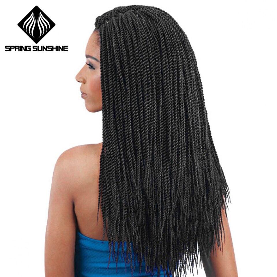 Spring Sunshine Senegalese Twist Crochet Braid Hair Extensions Kanekalon Synthetic Braiding Hair Faux Locs Dreadlocks Box Braids
