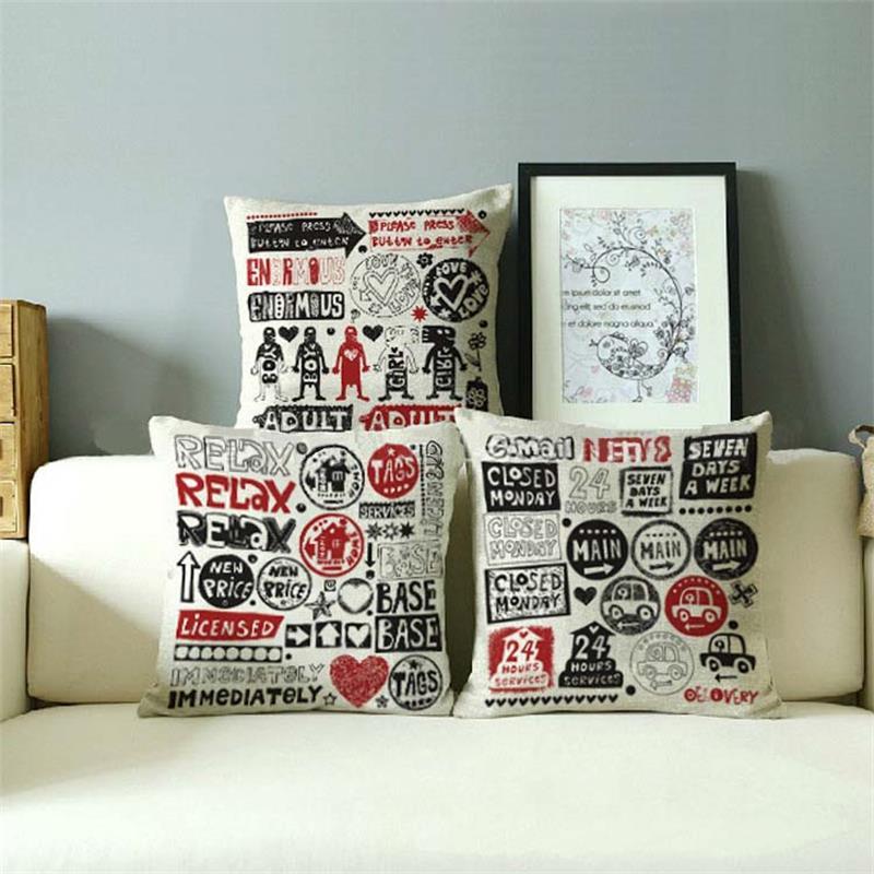 Aliexpress Buy Graffiti Style Cushion Cover Keith Haring