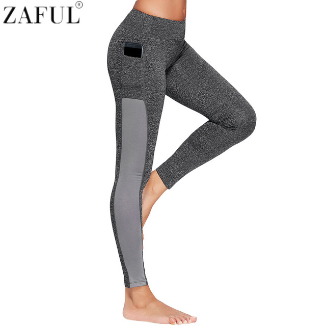 f30297b7dc2ce ZAFUL Women Yoga Pants Sports Exercise Tights Fitness Running Jogging  Trousers Gym Side Pocket Workout Leggings