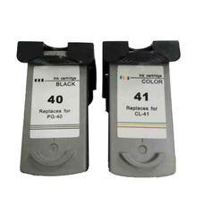 2pcs PG-40 CL-41 Ink Cartridge PG 40 CL 41 for Canon Pixma iP2500 iP2600 iP1800 iP1900 MP190 MP150 ip2200 MX310 MX300 ip1700 hisaint 1 set pg 40 cl 41 ink cartridge for canon pg40 cl41 for canon pixma ip2500 ip2600 mx300 mx310 mp160 mp140 mp150