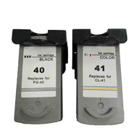 2pcs PG 40 CL 41 Ink Cartridge PG 40 CL 41 for Canon Pixma iP2500 iP2600 iP1800 iP1900 MP190 MP150 ip2200 MX310 MX300 ip1700