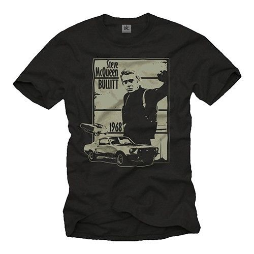 Us Muscle Car Men'S <font><b>Tshirt</b></font> with <font><b>Cult</b></font> Mustang 1967 Men'S Mc Bullit Queen New 2019 Fashion Summer O Neck Cotton Printed T Shirts image