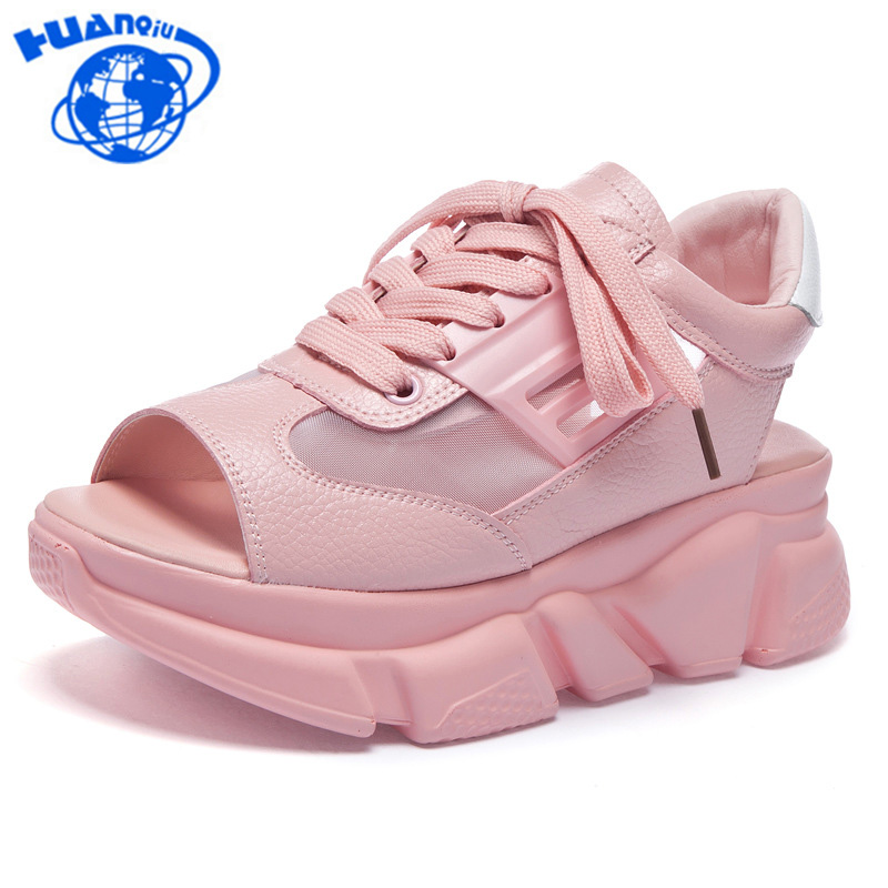 4082d9496c97 HUANQIU-2018-Fashion-Summer-Women-Sandals-Casual-Wedges-Sandals-Ladies -Open-Toe-Round-Pink-White-Platform.jpg