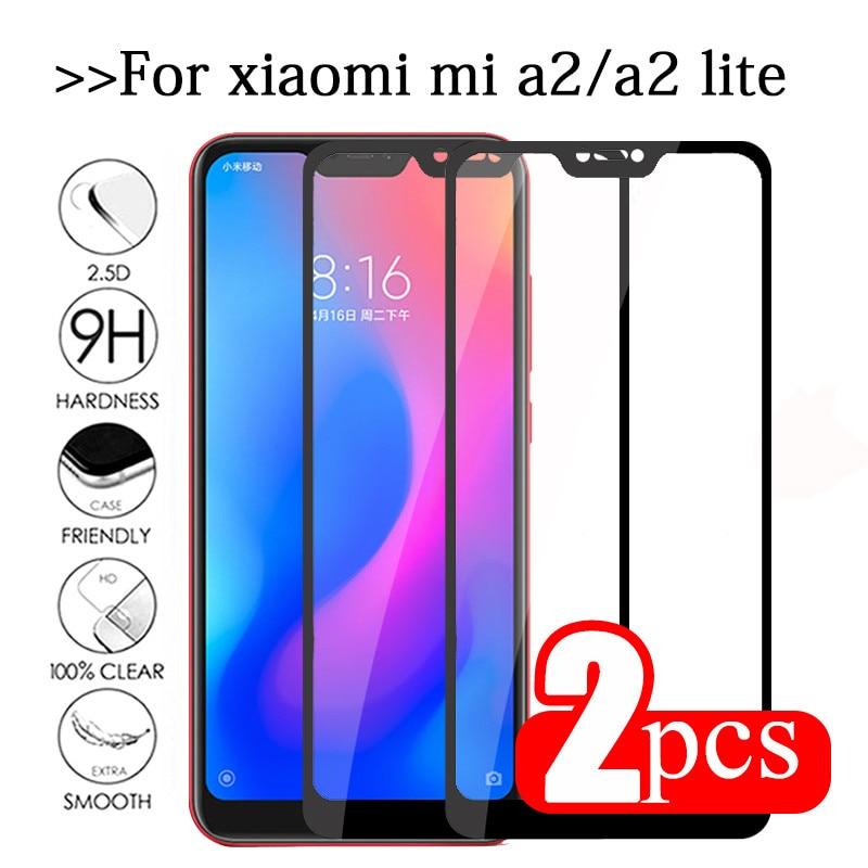 2pcs For xiaomi mi a2 lite tempered glass mi a2 lite protective glass on xaomi mia2 light a2lite mia2lite screen protector Film(China)
