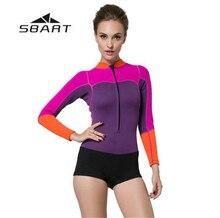 SBART Neoprene Wetsuit 2mm Spearfishing Suit Rashguard Long Sleeve Swim Wear Diving Swimming Suit Women цена