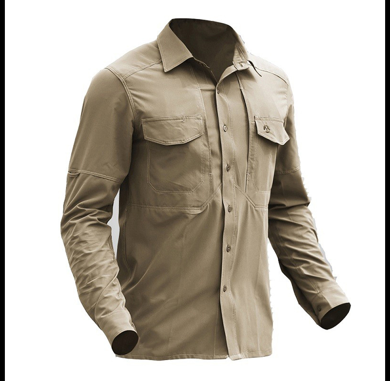 Tactical Gear Quick Dry Military Shirt Men Breathable Army Combat Tactical Shirts Elastic New Fabric Sport Hike Outdoor Shirts