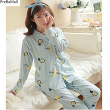 Maternity Breastfeeding Pyjamas  Thicken Long Sleeve Pregnancy Pajamas Nursing Clothes for Nightgown Sleepwear B0453