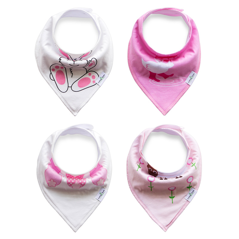 2018 Design Double Side Cute Infant Triangular Saliva Cotton Towel bandana Baby Bibs Free Size 4pcs Per Lot 20 Chooice