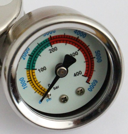 YONGHENG High pressure air pump oil-free pressure gauge 30MPA 40MPA 4500PSI compressor inflator tester 300bar gauge