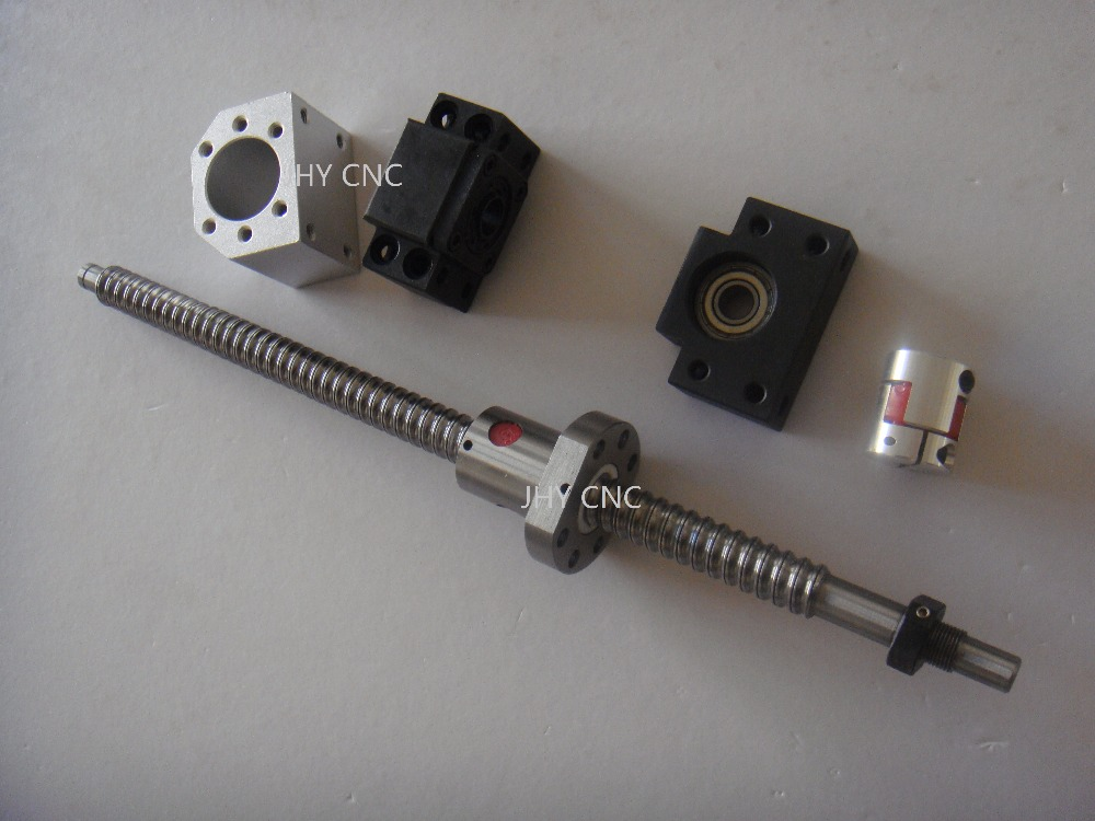 Ball Screw 1605 -L500mm +Ballnut Housing+ Couplers + 2 end blocks CNC Machine