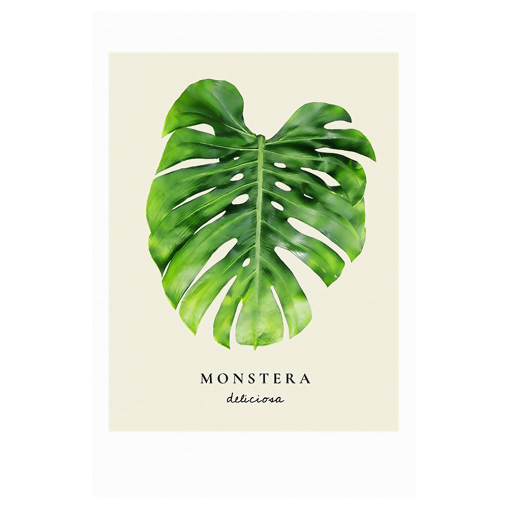 Watercolor Green Plants Monstera Nature Posters And Prints: Green Leaf Plant Monstera Nordic Poster Modern Watercolor