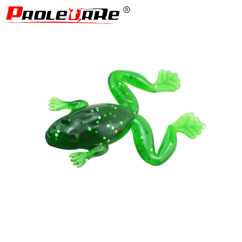 1Pcs Frog Soft Lure 50mm 3g Wobbler Fishing Lure Sea Jig Lure Silica Gel Swimbait Isca Artificial Trout Pike Bass PR-256