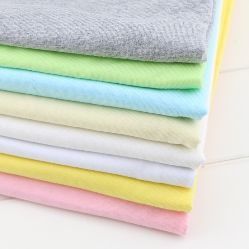 50 160cm Elastic Cotton Knitted Jersey Fabric for DIY Sewing Baby Cotton Clothing making fabric by half meter in Fabric from Home Garden