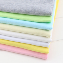 Pure cotton T-shirt single jersey knitted fabric and personal thin bed baby a plain cloth