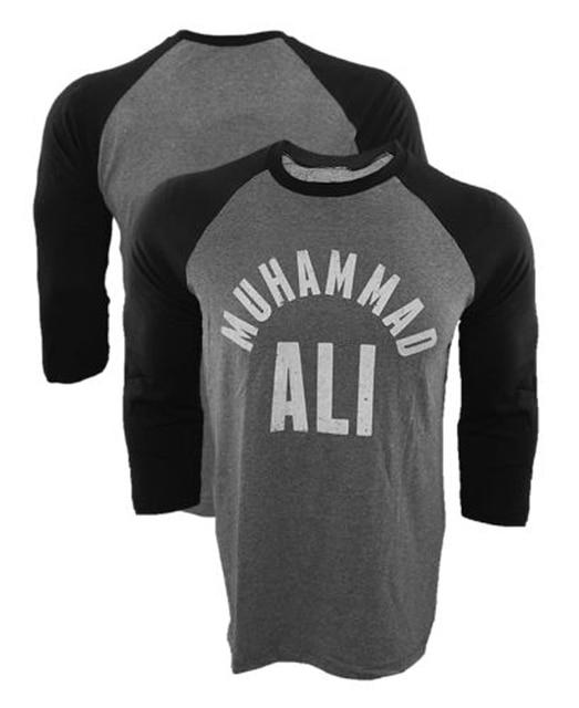2017 New Brand T-Shirt Muhammad Ali All Stars Raglan T shirt MMA Fighting Long Sleeve Baseball Jersey Tee Shirt USA Size tshirt