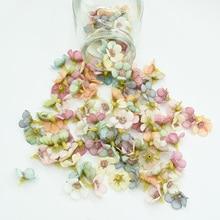 50 шт. мини шелковая Маргаритка, многоцветная искусственная Цветочная головка, скрапбукинг, сделай сам, Рождественская гирлянда, дешевые искусственные цветы для домашнего декора