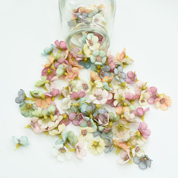 50 sztuk MINI jedwabna stokrotka Multicolor sztuczny kwiat głowy scrapbooking diy boże narodzenie garland tanie sztuczne kwiaty do wystroju domu tanie i dobre opinie Jedwabiu Ślub Daisy