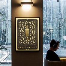 Коричнево-Пивная карта Daquan C брус Ресторан ностальгические крафт-бумажные постеры на стену, картины наклейки на стену