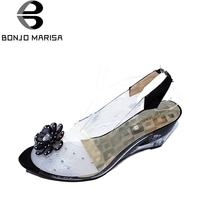 Big Size 34 43 Factory Price Rome Stylish High Quality Fashion Wedge Heel Sandals Dress Casual