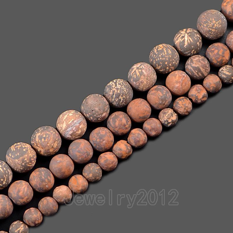 Responsible 5strands/pack Matte Fireworks Jaspe-r Gem Stone Round Spacer Loose Beads 15'' 6mm 8mm 10mm Wholesale Diy Jewelry Making Pleasant In After-Taste