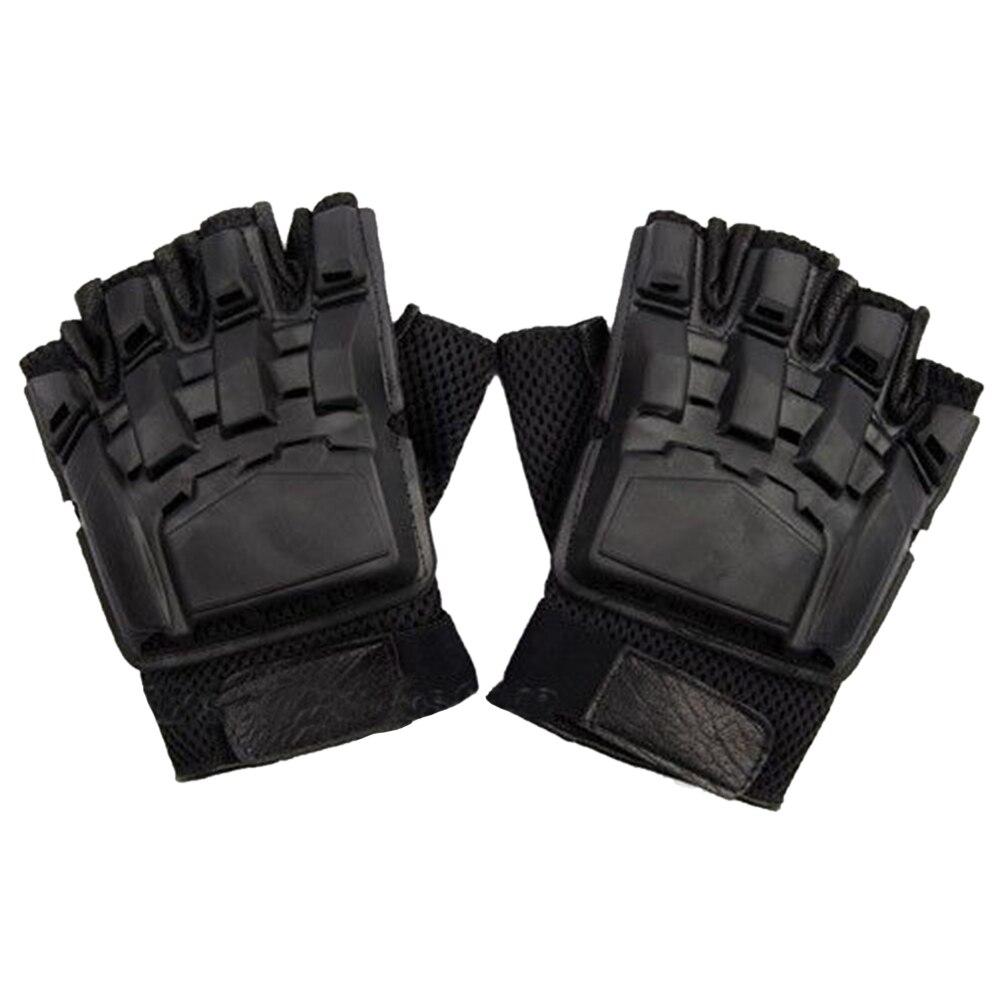 SWAT Военная Униформа Airsoft Пейнтбол Тактические Прихватки для мангала Шестерни Половина Finger вооруженные защиты Размер L