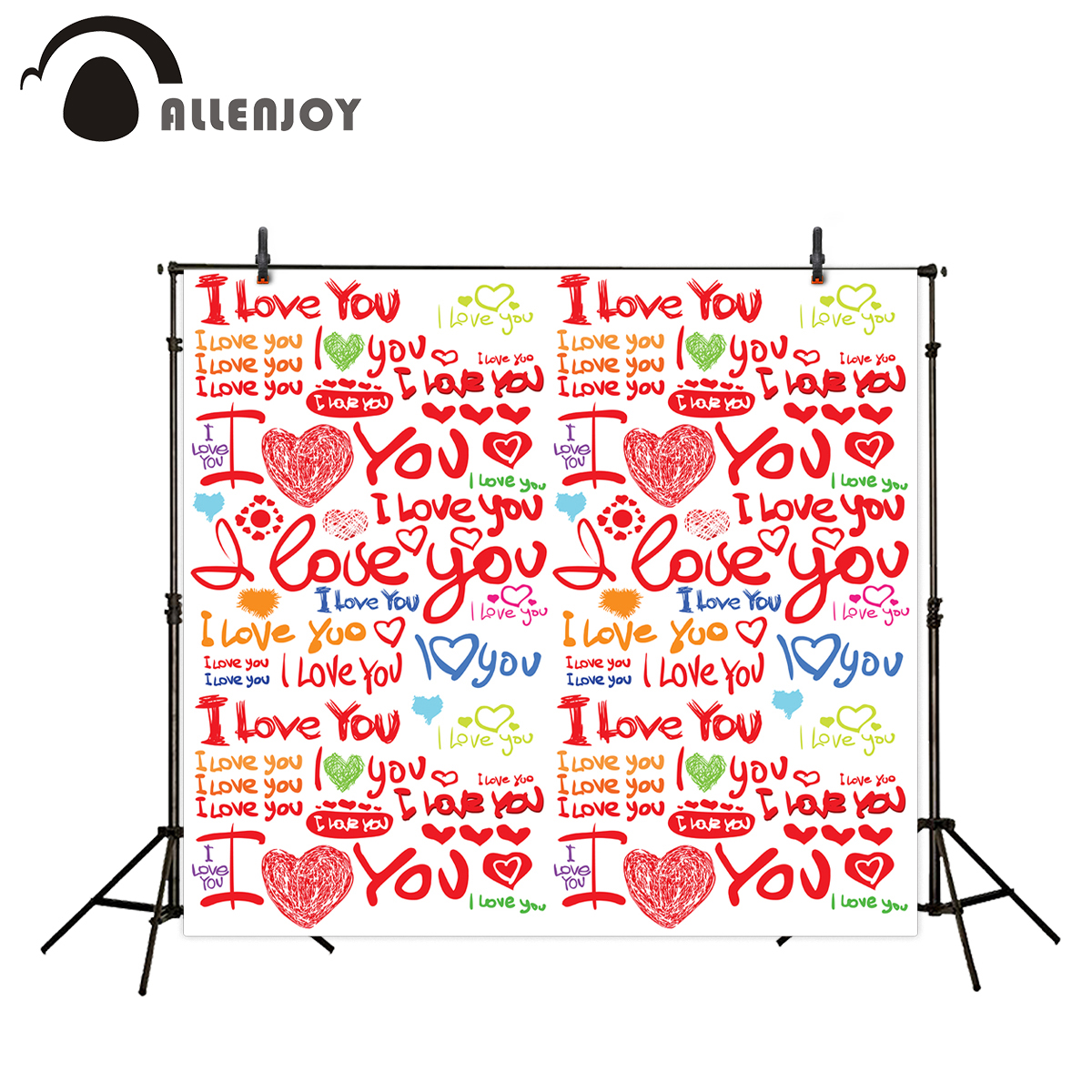 Allenjoy photography backdrops love heart colourful red backgrounds for photo studio photo backgrounds for photos allenjoy photography backdrops valentine s day love colourful heart wedding background for studio photo backdrop vinyl