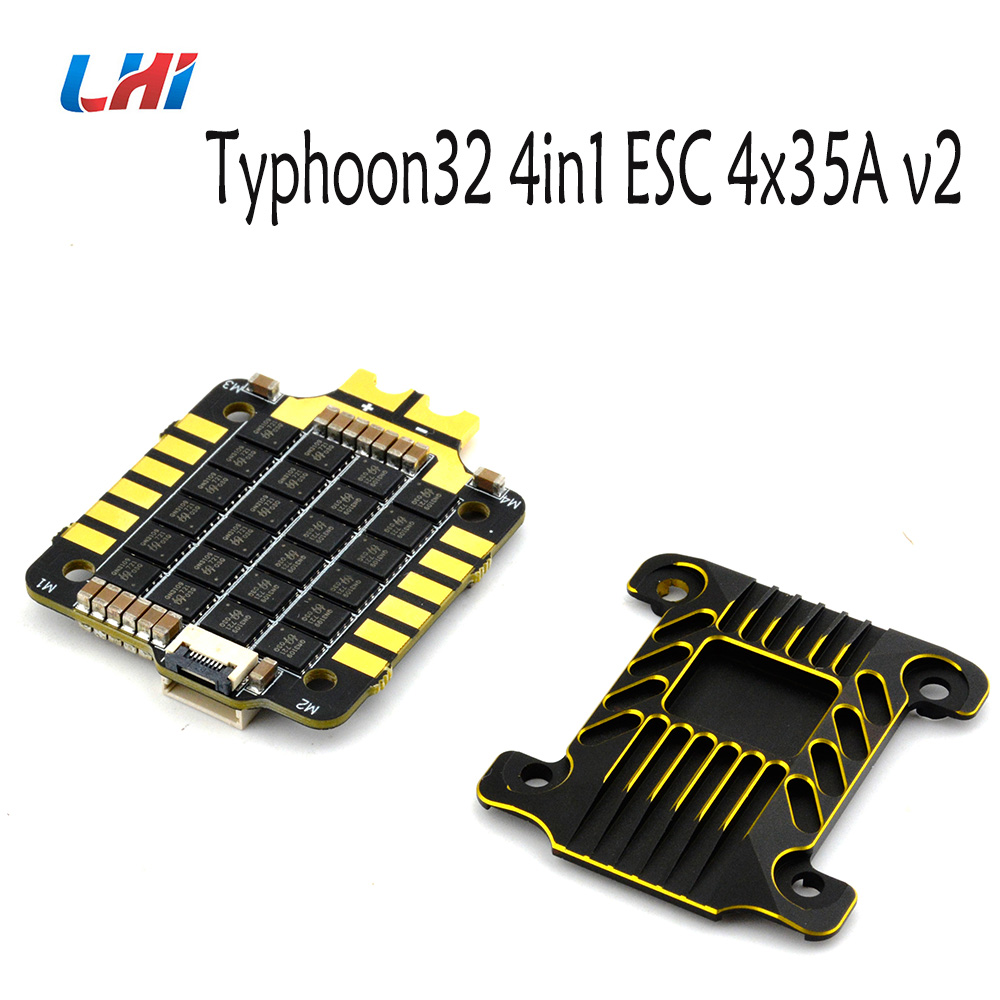 Typhoon32 4in1 ESC 4x35A ESC with 30.5x30.5 mm Mounting holes supports DSHOT 1200 BLHELI32 firmware for quadcopter метчики 1 4 32
