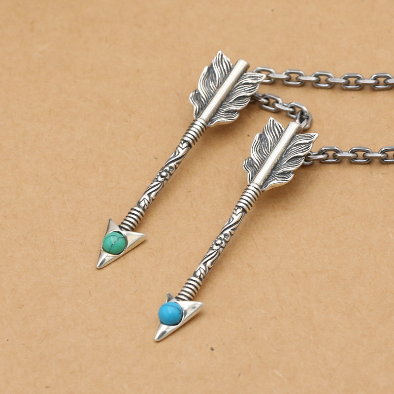 S925 Sterling Silver Jewelry Fashion Takahashi Goro Handmade Feather Arrow Male And Female Pendants
