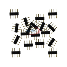 Free shipping 20~1000pcs 4 pin needle 4pin RGB connector male type double 4pin for 3528 5050 RGB LED strip led accessories цены онлайн